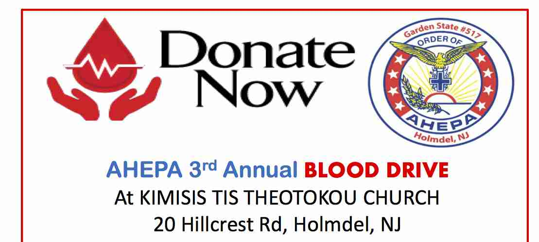 AHEPA BLOOD DRIVE HOLMDEL CHURCH
