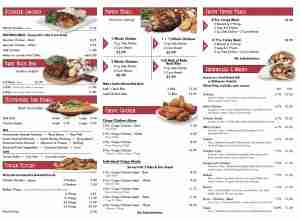 La Rosa Chicken Grill Hazlet Menu