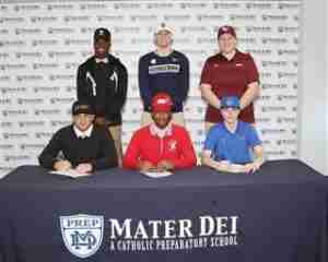 Mater Dei Prep National Signing day 2019