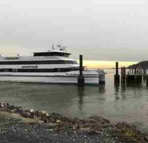 Seastreak ferry atlantic highlands grounded stuck