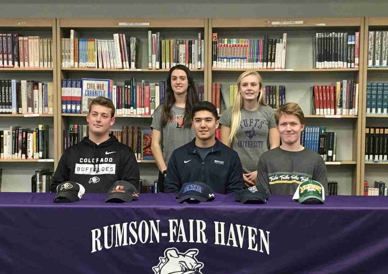 Rumson Fair haven signing letter of intent 2019