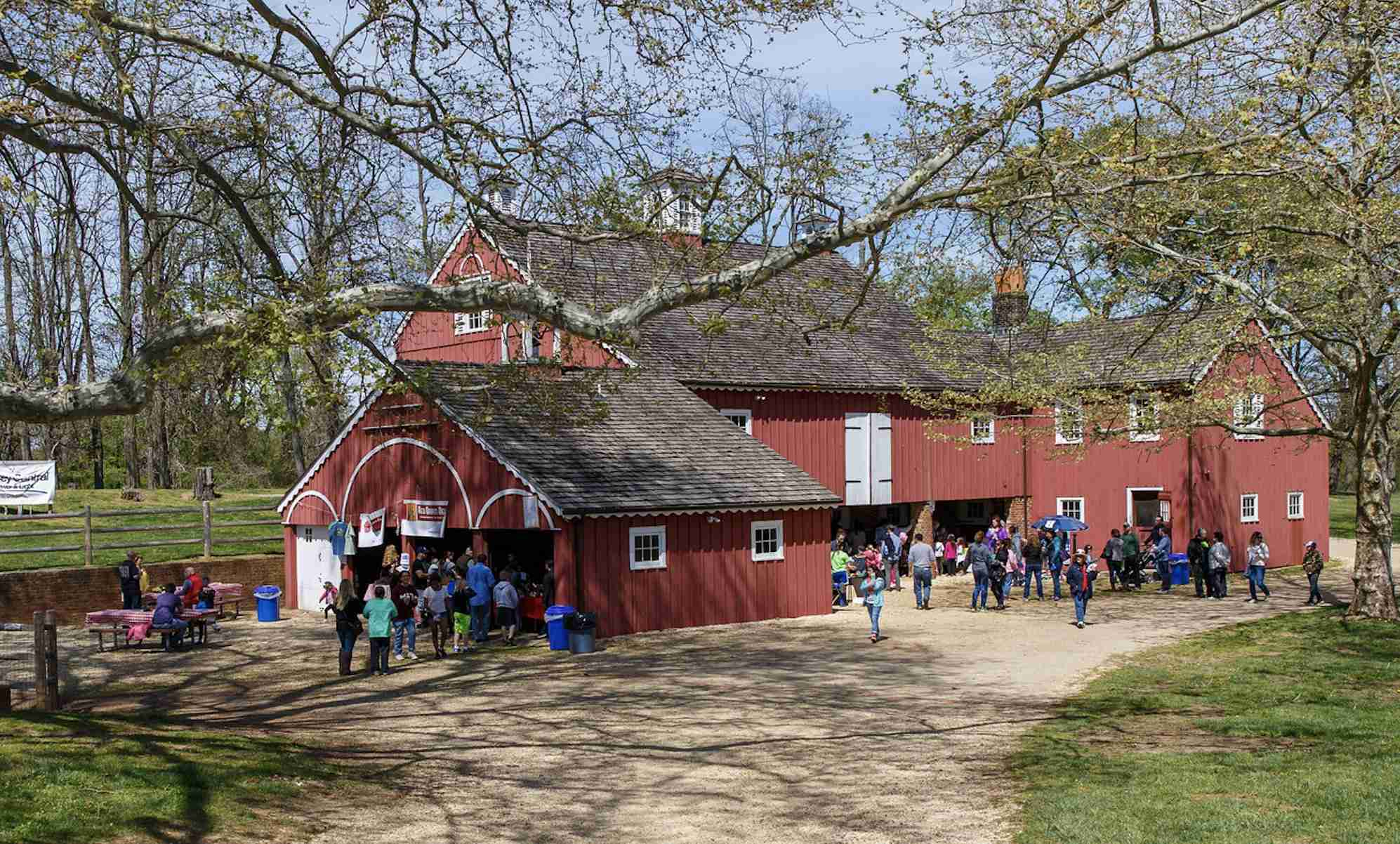 Holmdel Earth Day Bayonet Farm 2019 barn