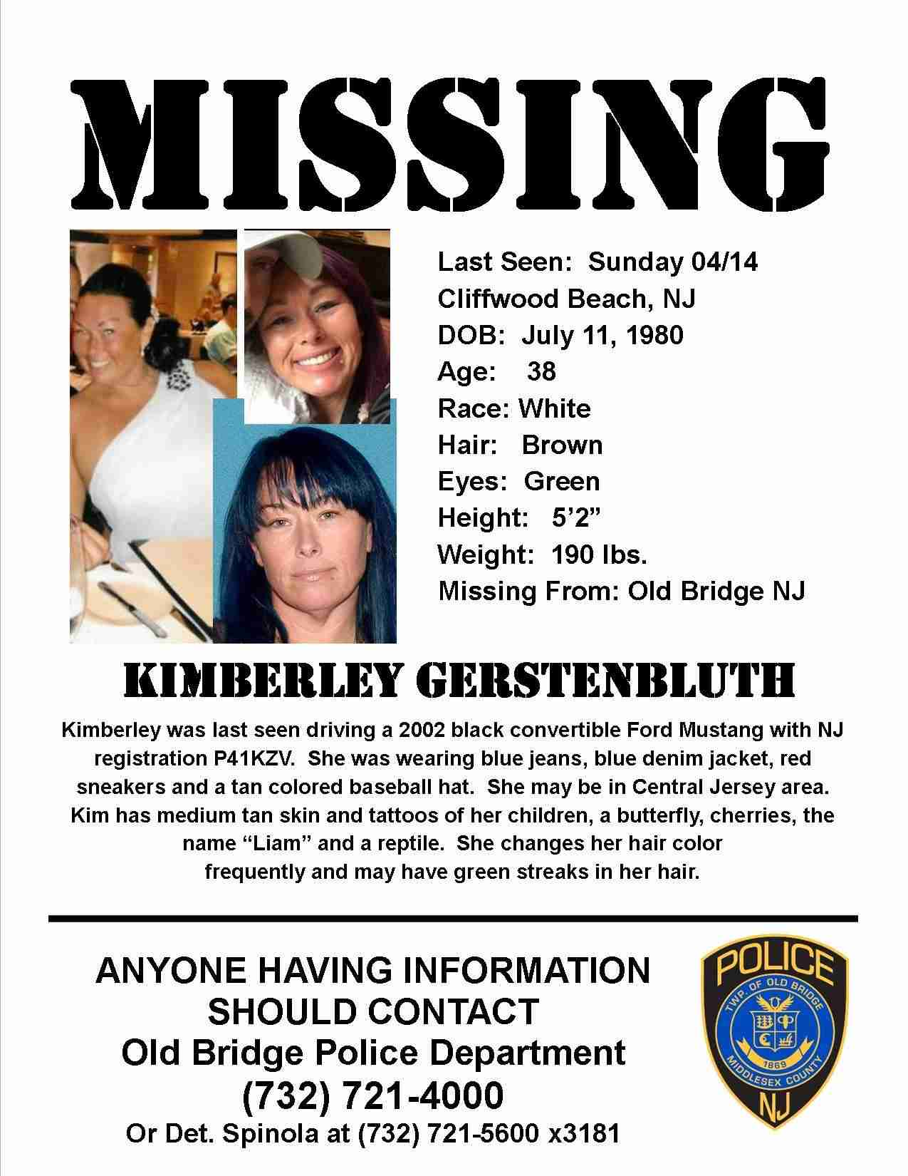 Kimberly Gerstenbluth missing old bridge