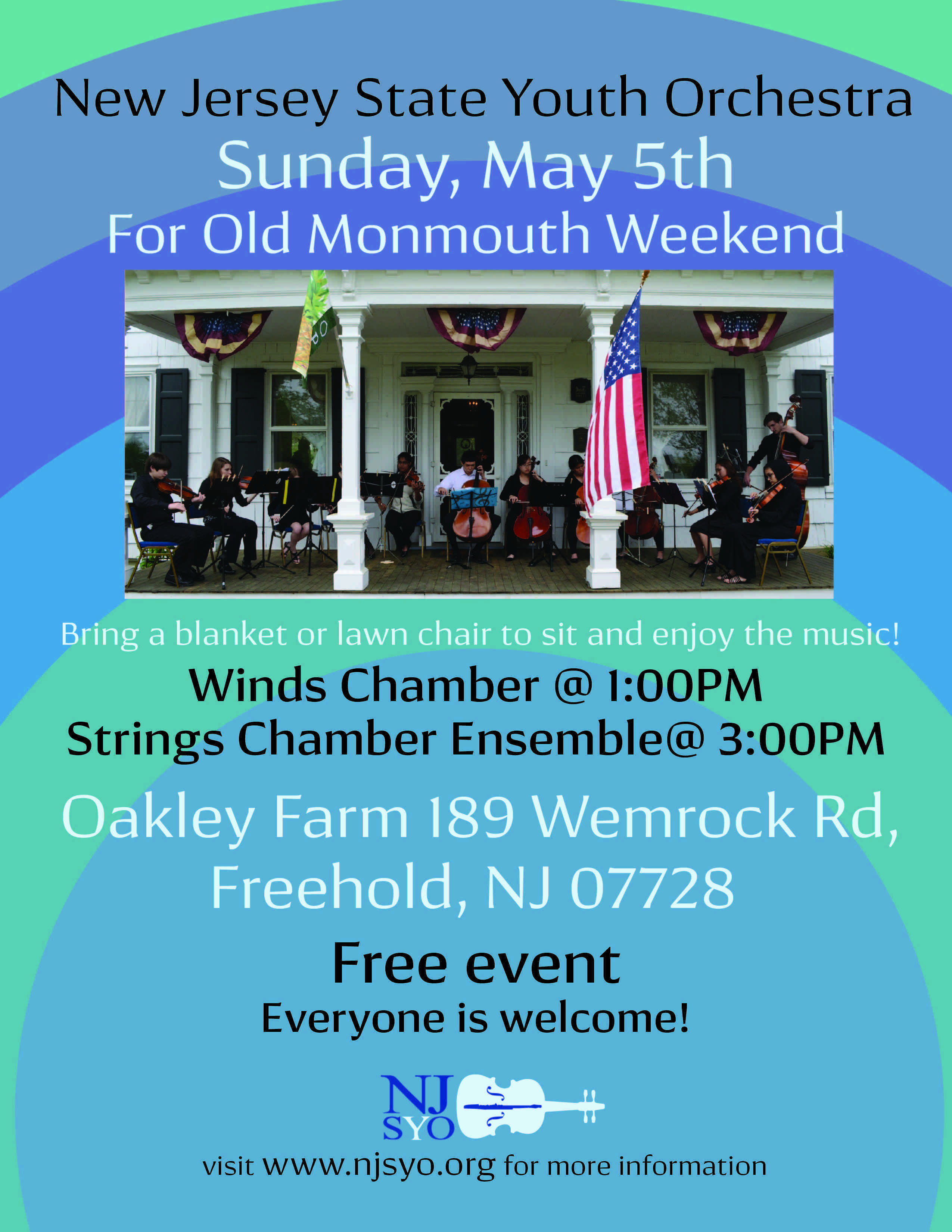 NJ state youth orchestra may 5 2019