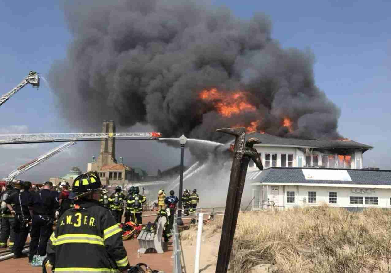 OCEAN GROVE FIRE boardwalk restaurant