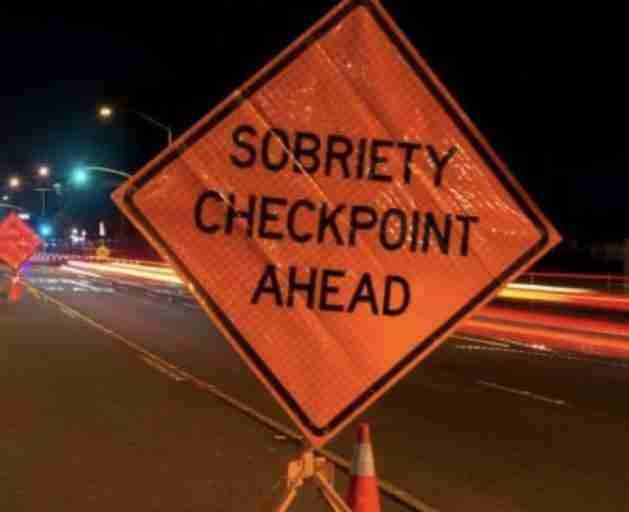 Sobriety checkpoint april 26 highway 36 union beach