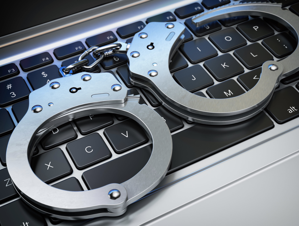 new jersey arrest handcuffs keyboard