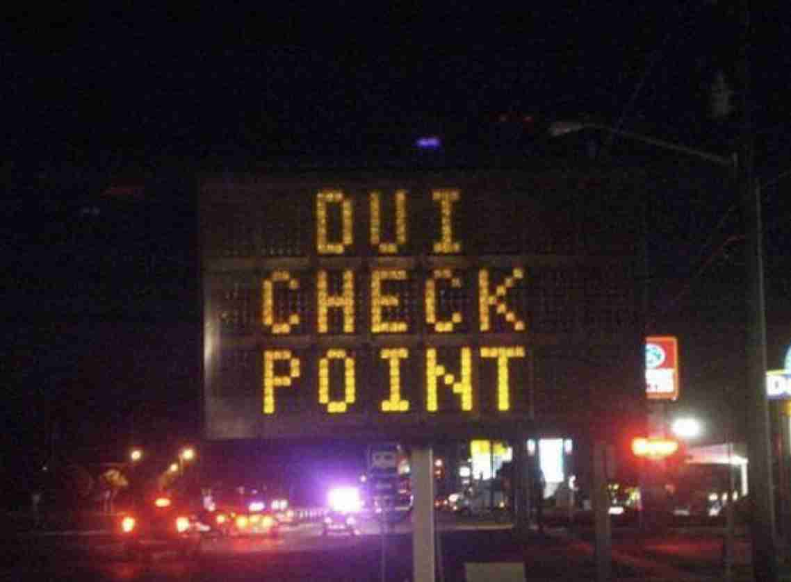 DUI Checkpoint New Jersey monmouth county dwi