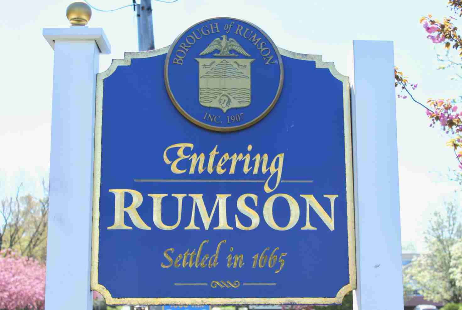 rumson new jersey nj sign
