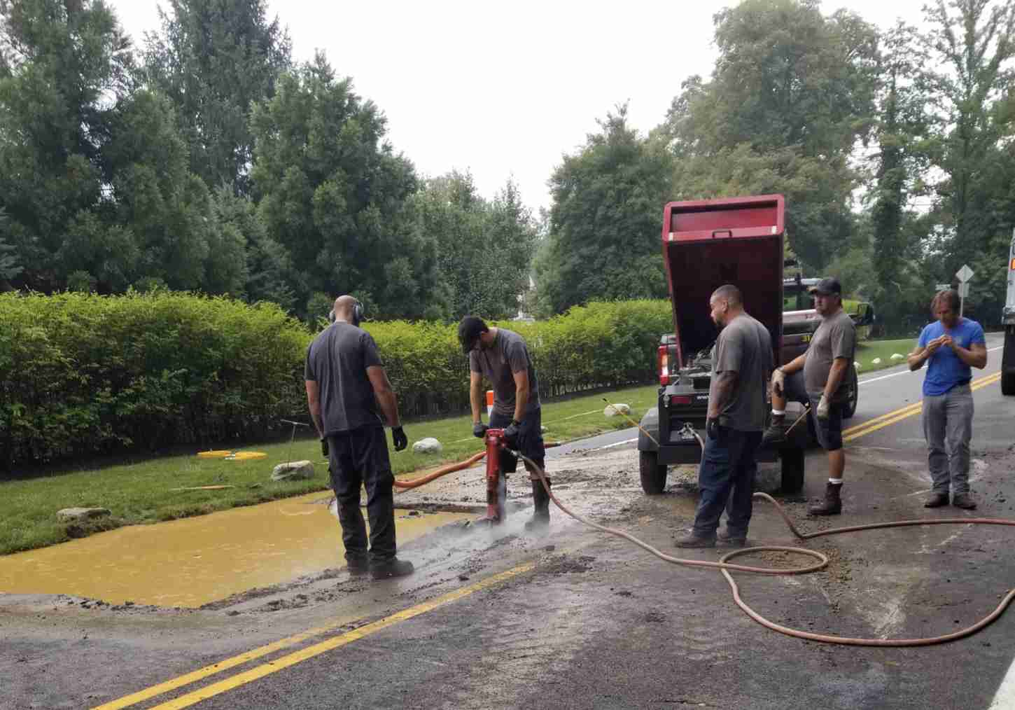 rumson road sewer main break august 8 2019