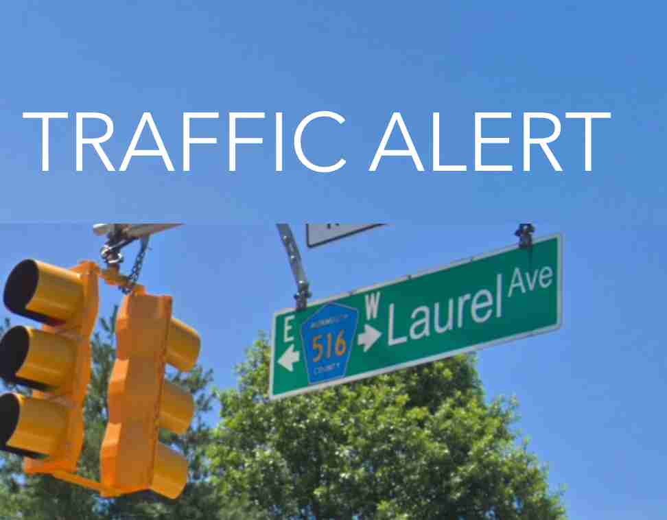 Laurel avenue traffic alert holmdel new jersey